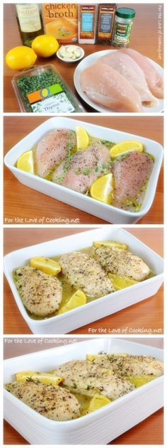 Lemon and Thyme Chicken Breasts - Love with recipe