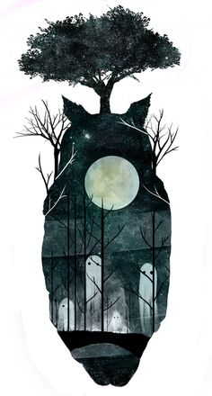 Love this print! March of the Forest Spirits. $12.48