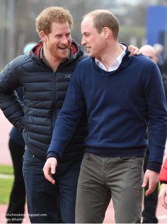 Hrhduchesskate Headstogether Marathon Training Queen Elizabeth Olympic Park East London February Harry And The Duke Of Cambridge