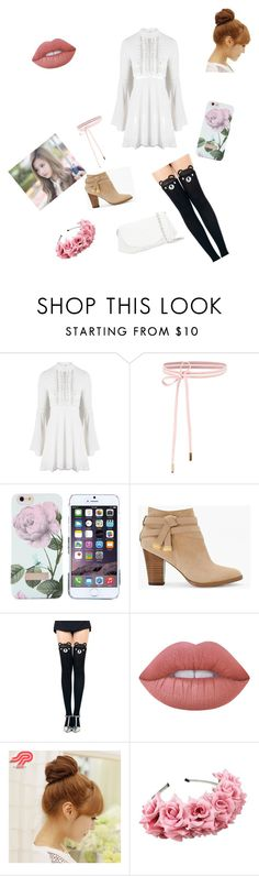 """""""Going to a tea party with my Eomma ^-^"""" by leehyjinofficial ❤ liked on Polyvore featuring For Love & Lemons, Ted Baker, White House Black Market, Lime Crime, Pin Show and Chanel"""