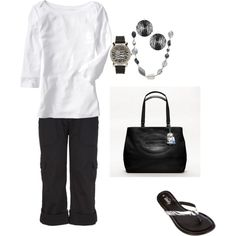 Black & white, crops and flip flops