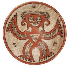 Coupe polychrome à décor anthropomorphe Style Conte, région de Gran Coclé, Panama Période V, 850-1000 ap. J.-C.