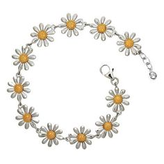 Love, love  love this!  Silver Daisy Bracelet by PaulWrightJewellery on Etsy, £95.00