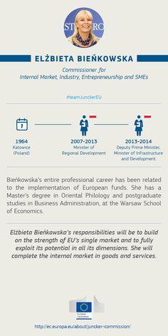 Elżbieta Bieńkowska, EU Commissioner for Internal Market, Industry, Entrepreneurship and SMEs #TeamJunckerEU