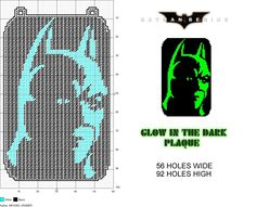 Batman Begins Glow in Dark Window Plaque plastic canvas pattern by Michael… #PlasticCanvas
