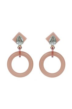 ORECCHINI CREOLA 1 CRYSTAL 2  Earring made of cellulose acetate with opaque crystals. Metal parts nickel free.