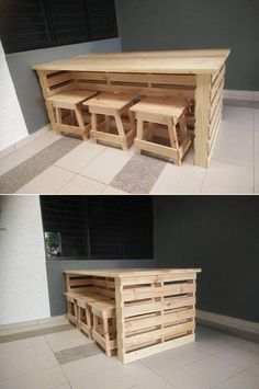 Use Pallet Wood Projects to Create Unique Home Decor Items – Hobby Is My Life Wooden Pallet Projects, Pallet Crafts, Wooden Pallets, Buy Pallets, Wooden Pallet Kitchen Ideas, Diy Pallet Bar, Pallet Interior Ideas, Outdoor Pallet Bar, Diy Pallet Couch