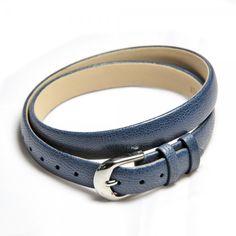 Blue leather bracelet in belt look - 17,95 €
