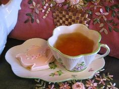 Very pretty cup & saucer, with room for a cookie!