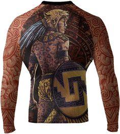 Long Sleeve MMA  BJJ Rash Guards UPF Swim Shirt Koi Fish Rash Guard for Men Japanese Tattoo  Illustration Print Sun Protection