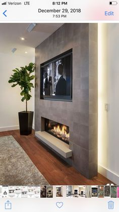 44 Trendy Living Room TV Wall Modern Fireplace, You are in the right place for home decor items When it comes to d Fireplace Tv Wall, Basement Fireplace, Fireplace Design, Fireplace Inserts, Cute Living Room, Living Room With Fireplace, New Living Room, Tv Wall Ideas Living Room, Tv Wand Modern