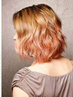Cute ombre pink and blonde hair