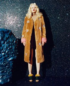 I'm impressed w/ this faux fur coat shown here by SHRIMPS!