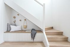 Renovations 7 Clever Under-The-Stairs Ideas That Make the Most of Every Square Inch Along with publi Engineered Timber Flooring, Home Interior, Interior Design, Cool Color Palette, Room Tiles, Under Stairs, Dining Furniture, Home Decor, Basement Ceilings