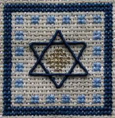 This cross stitch Star of David pattern is so lovely for Hanukkah! Diy Hanukkah, Hanukkah Decorations, Happy Hanukkah, Christmas Hanukkah, Christmas Cards, Christmas Ornaments, Cross Stitching, Cross Stitch Embroidery, Embroidery Patterns