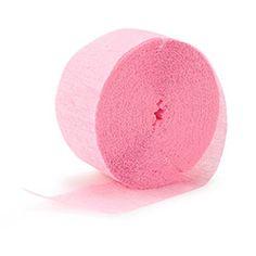 Pink Crepe Streamer