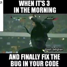 That awesome moment  I know I am not the only one.  . . #repost @programmer_rep #developer #coding #codingproblems #project #java #webdevelopment #webdeveloper #programmer #programming #angularjs #github #nodejs #emberjs #reactjs #nerdyjokes #php #geeky #javascript #codingjokes #stackoverflow #softwaredevelopers #android #devslopes #learntocode #codelife #eatsleepcoderepeat