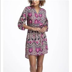 Maeve Frequencies Ikat Shirtdress by Anthropologie Like new! Worn only once! Beautiful Ikat tribal print in beautiful colors. Lightweight shirt dress by Meave Anthropologie Dresses