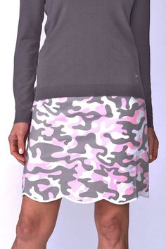 e514cb0c136 Women Golf Clothing - Golftini Womens Incognito Camouflage Stretch Cotton Skort  Comes in 2 Lengths