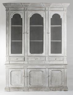 Shop the Luella French Country Rustic White Wood 2 Glass Door Display Cabinet and other Bookcases & Display Cases at Kathy Kuo Home Decor, White Home Decor, Cabinet, Furniture, Display Cabinet, White Distressed Cabinets, French Furniture, Traditional Bookcases, Pine Cabinets