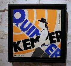 L'Office de tourisme de Quimper fête cette année ses 100 ans.   Deux belles réalisations artistiques dues à Olivier Lapicque symbolisent ce... Olive Tree, Drawings, Artist