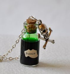 Hey, I found this really awesome Etsy listing at https://www.etsy.com/listing/191405793/poison-skull-potion-jar-necklace
