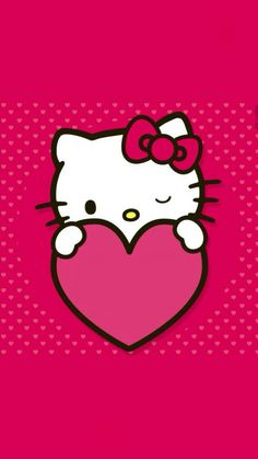 Hello Kitty Dots and Heart Wallpaper