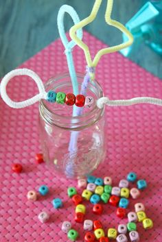 Make your own bubble wands out of pipe cleaners.  Create all kinds of shapes and then decorate them with beads or other accessories.  Then take them outside!