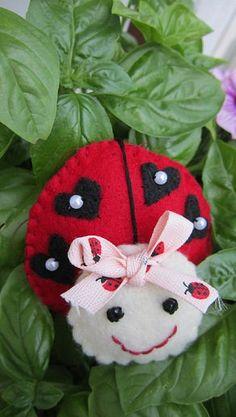 Handmade Ladybug ornaments by tonyasepulveda on Etsy, $12.00