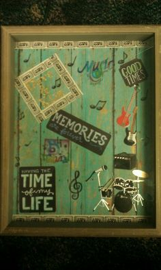 Shadow box  for keepsakes( concert tickets)