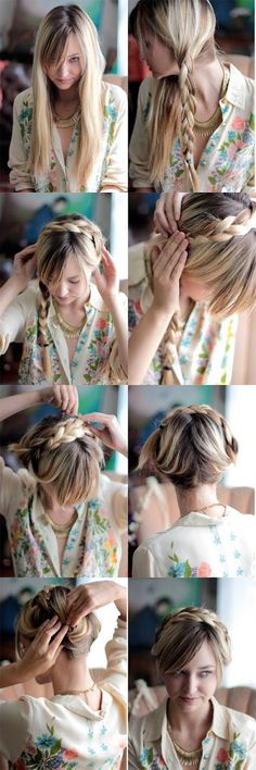 ~ DIY How to do a milkmaid braid in 5 minutes ~    hairstyles tutorial