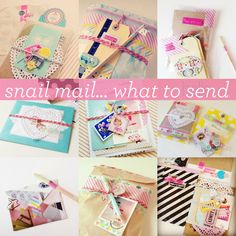 What to send & how to send it... The first snail mail tip was quite a while ago, but I was so pleased...