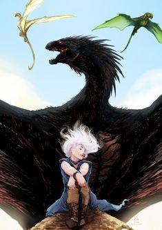 """Game of Thrones - Daenerys Targaryen """"GoT: Song for Mother"""" by Animon Drogon Game Of Thrones, Game Of Thrones Dragons, Got Dragons, Got Game Of Thrones, Game Of Thrones Funny, Mother Of Dragons, Daenerys Targaryen Art, Khaleesi, Fantasy World"""