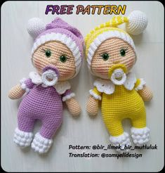 We continue to share wonderful amigurumi crochet patterns. Amigurumi crochet teddy bear pattern is waiting for you in our article. Doll Amigurumi Free Pattern, Crochet Amigurumi Free Patterns, Crochet Doll Pattern, Amigurumi Doll, Free Crochet, Stuffed Animal Patterns, Baby Dolls, Bobble Stitch, Stitch 2
