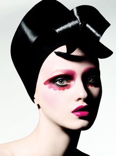 Fuscia Flower Petal Eyes, editorial makeup. Photographer: Justin Cooper