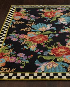 Flower Market Rug by MacKenzie-Childs at Horchow.