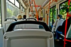 This used to be 'the rule' in a bus or train.  If you see an elderly person standing in the bus, GET UP, and help them to your seat.  They might be very unstable on their feet but not want to take it;  help them to it.