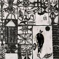 John Pule New Zealand Art, Nz Art, Amazing Art, Grid, Cool Art, Illustration Art, Objects, Doodles, Collage