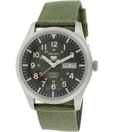 Seiko Men's 5 Automatic Green Nylon Automatic Watch