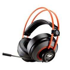 Cougar Inmersa Gaming Headset - Microphone and Volume Control - Lightweight- Noise Cancelling Headphone - Phone Plug For PC Gaming, Best Gaming Headset, Gaming Headphones, Noise Cancelling Headphones, Gaming Computer, Sports Headphones, Computer Science, Orange, Logitech, Games
