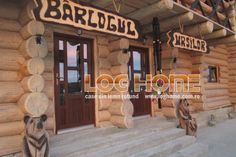Galerie foto case si cabane din lemn rotund - LOG HOME Vatra Dornei, Suceava Cabana Restaurant, Log Homes, Case, Timber Homes, Wood Homes, Log Home, Wood Houses, Log Cabins, Log Cabin Homes