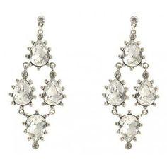 Luxe Large Crystal Stone Chandelier Earrings