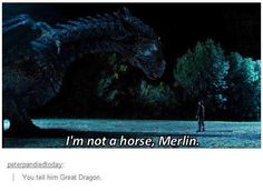*thinks back to when Merlin asks the Great Dragon to take him and Arthur to the Pond*