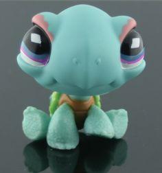 Littlest Pet Shop -- Birthday Celebration Green Turtle # 522
