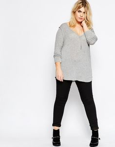 Image 4 ofASOS CURVE New Forever Top with Long Sleeves