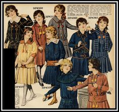 1916 Sears Catalog Girls dresses, all I could salvage of the page | Flickr - Photo Sharing!