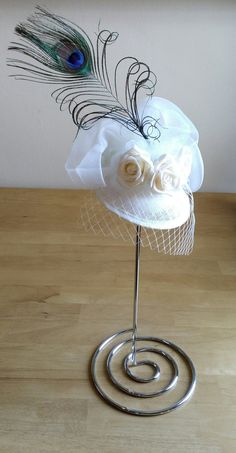 Hey, I found this really awesome Etsy listing at https://www.etsy.com/uk/listing/269948642/ivory-hat-fascinator-ideal-for-weddings