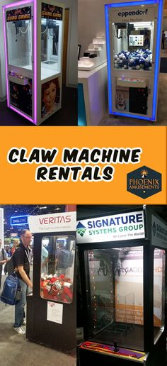 Claw Machine Rental - Awesome way to gather a crowd in your tradeshow booth! Whether you use branded swag or promotional items or color coded prizing, a claw machine gives you time to talk to prospects and create a relationship. Our Prize Cube Claw Mach Exhibition Booth Design, Exhibition Space, Wedding Reception Games, Wedding Ideas, Claw Machine, Event Marketing, Work Party, Fun Events, Trade Show