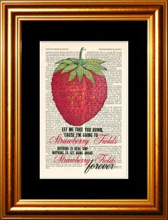 Items similar to Peacock feathers with Eyes and Glasses print on vintage upcycled page on Etsy Beatles Quotes, Beatles Lyrics, Beatles Love, Song Lyrics, Music Love, Good Music, Beatles Party, Wax Lyrical, Strawberry Fields Forever
