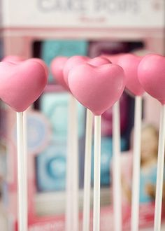 Heart Cake Pops by Bakerella...super adorable sweet Valentine's Day treats